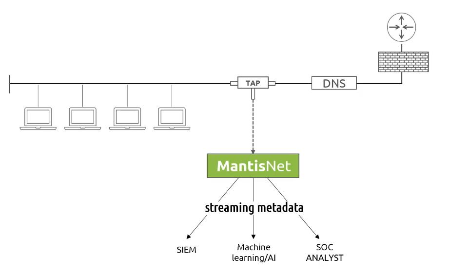 MantisNet | Sensor for Continuous DNS Monitoring